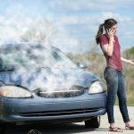 Woman With an Overheating Car